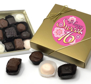 SWEET 16  BIRTHDAY CHOCOLATE CANDY BOX