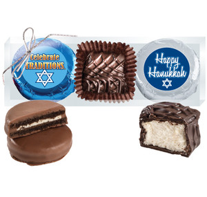 "HANUKKAH  ""COOKIE TALK"" CHOCOLATE OREO & MARSHMALLOW TRIO"