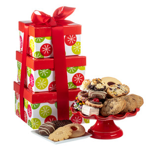 CHRISTMAS / HAPPY HOLIDAY  LARGE TOWER OF TREATS