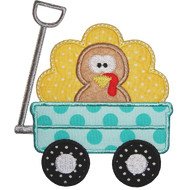 Turkey Wagon Applique