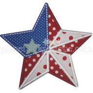 Flag Star Applique