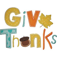 Give Thanks Applique