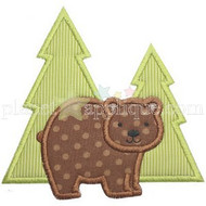 Forest Bear Applique