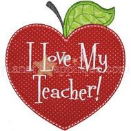 Love My Teacher Applique