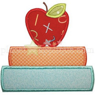 Apple And Books Applique