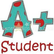 A+ Student Applique