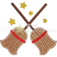 Crossed Broomsticks