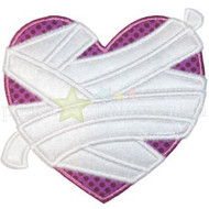 Mummy Heart Applique