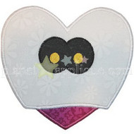 Ghost Heart Applique