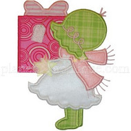 Sunbonnet Christmas Girl