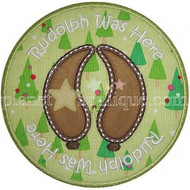 Rudolph Stamp Applique
