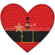 Santa Heart Applique