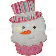 Snowman Cupcake Applique