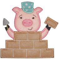 Brick Pig Applique