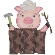 Stick Pig Applique