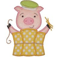 Straw Pig Applique