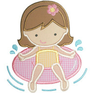 Pool Girl Applique