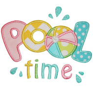 Pool Time Applique