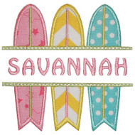 Surfboard Name Plate