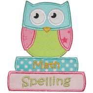 School Owl Applique