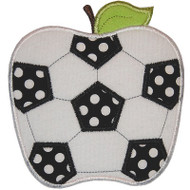 Soccer Apple Applique