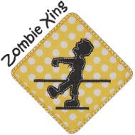 Zombie Crossing Applique