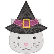 Witch Hat Cat Applique