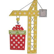 Christmas Crane Applique
