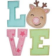 Reindeer Love Applique