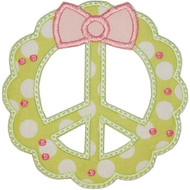 Peace Wreath Applique