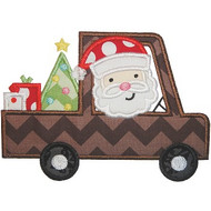 Santa Truck Applique