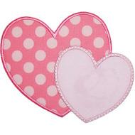 2 Hearts Applique