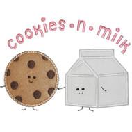 Cookies and Milk Applique