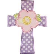 Cross Flower Applique