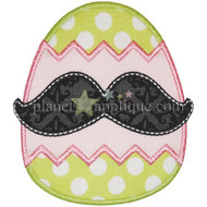 Mustache Egg Applique