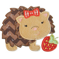 Strawberry Hedgehog Applique
