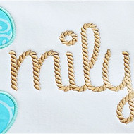 Rope Embroidery Font