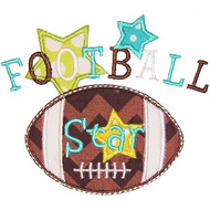 Football Star Applique