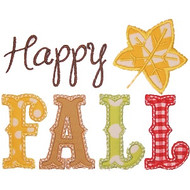 Happy Fall Applique