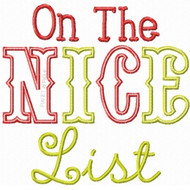 Nice List Applique