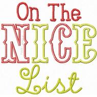 Nice List Applique