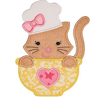 Chef Kitty Applique