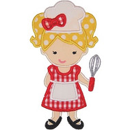 Girly Chef Applique
