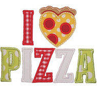 I Love Pizza Applique