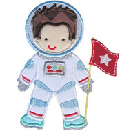 Astronaut Boy Applique