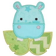 Safari Hippo Applique