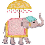 Indian Elephant Applique
