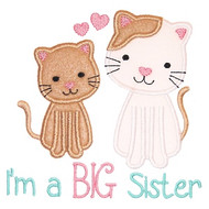 Sibling Kitties Applique