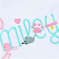 Kitty Embroidery Font