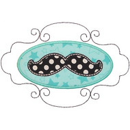 Mustache Patch Applique